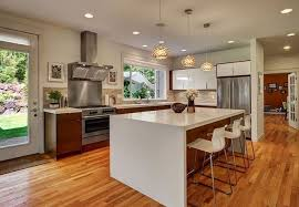 horizontal top kitchen cabinets the waterfall countertop trend all you need to bob vila
