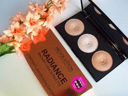 makeup revolution radiant lights makeup revolution radiance lights highligting palette review