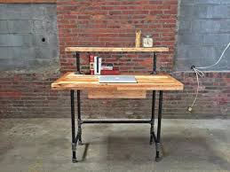 diy pipe computer desk anyone build a desk or other furniture out of iron pipe reclaimed