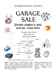 church rummage sale flyer tpc garage sale flyer 201208