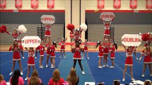 Cheerleader Flags Welcome Upper Dublin Junior Athletic Association