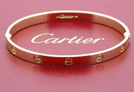cartier love bracelet pink images Cartier love bracelet in 18k yellow gold size 21 classic screw jpg