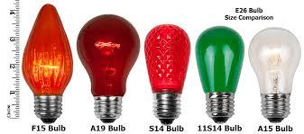 christmas lights sizes comparison christmas light bulb sizes