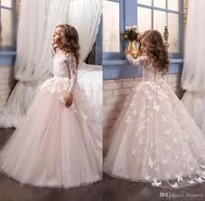 Flower Girls Dress Shoes - 2017 flower girls dresses with beaded sash and crew neck appliques