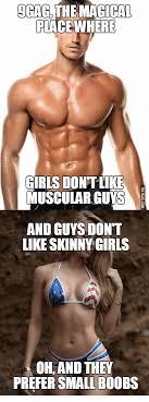 Skinny Girl Meme - ggag the magical place where girls dontlike muscular guys and guys