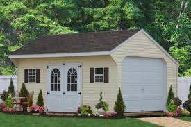 one car prefab car garages 100 s of choices amish built maintenance free prefab garage
