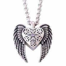 necklace urns for ashes online shop vintage stainless steel antique silver heart