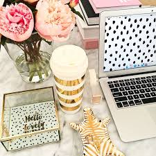 gold desk accessories target simple things pale pink flowers weekly office spaces and