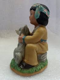 home interiors gifts 1428 95 native american children child w