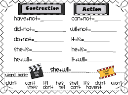 a tale of 2 first grades adjective and contraction freebies for