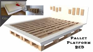 make your inexpensive diy modern pallet bed how to youtube