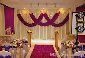wedding backdrop frame wedding drape stand set wedding curtain with silver swag stand