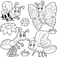 preschool coloring pages bugs bugs and insects tons of coloring pages on this site graphics