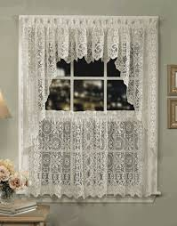 Lorraine Curtains Hopewell Lace Curtains White Lorraine Country Kitchen