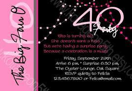 Unique Birthday Invitation Cards 40th Birthday Invitations For Her Kawaiitheo Com