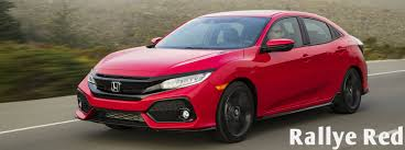 seven great colors to choose from for the new civic hatchback