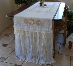 shabby chic table runner burlap and velvet together available in my etsy shop bella