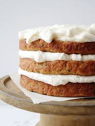 zucchini banana layer cake with whipped cream cheese frosting