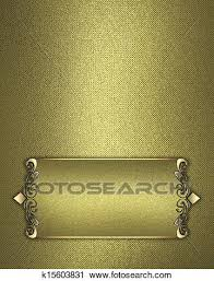 gold name plate clipart of golden texture with gold name plate with gold trim