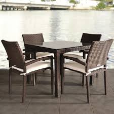 Resin Wicker Patio Furniture Clearance Outdoor U0026 Garden Fabulous Metal Patio Dining Set With Tufted