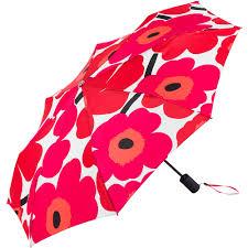 Marimekko Unikko Duvet Umbrella Pieni Unikko Red