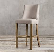 1940s french barrelback fabric stool