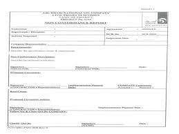 non conformance report template non conformance reporting 1