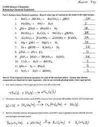 balancing chemical equations worksheet word tessshlo