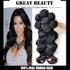 Dying Real Hair Extensions by Cheap Brazilian Body Wave Human Hair Extensions Natural Color Body