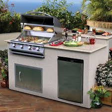 Built In Gas Grills Cal Flame 7 Ft Natural Stone Grill Island With 4 Burner Gas Grill