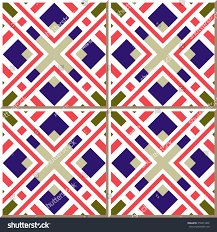 Moroccan Pattern Art Moroccan Wall by Vintage Seamless Wall Tiles Square Frame Stock Vector 358471499