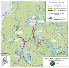 new england central railroad map railroad line forums maine central at chesuncook lake small