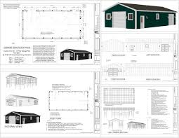 house barns plans g511 24 x 50 pole barn sds plans