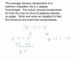 absolute value word problem youtube
