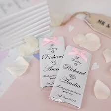 wedding favours bow chocolate wedding favours by tailored chocolates and gifts