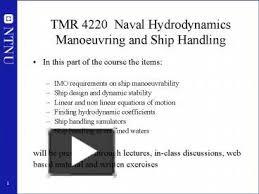 design criteria tmr ppt tmr 4220 naval hydrodynamics manoeuvring and ship handling