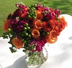 Wedding Flowers Fall Colors - faux wedding flower package custom colors tangerine oasis