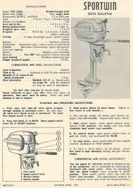 1948 evinrude 3 3 sportwin specs help aomci blue board