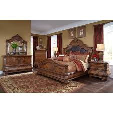 michael amini tuscano melange 4pc queen size mansion bedroom set