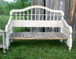 Bed Frame Bench Diy Headboard Upcycled Bench A Rustic Inspired Project