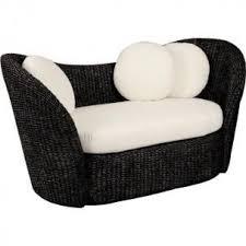 canape d exterieur canapé d extérieur en jacinthe noir créme achat vente fauteuil