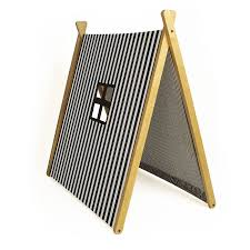 Wooden Tent by Stripy Black Collapsible Play Tent By Grattify