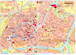 France Germany Map by Strasbourg Map Attractions Places I U0027ve Been Pinterest
