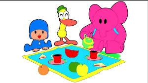 pocoyo coloring childrens coloring picnic pocoyo coloring