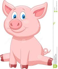 cute pig cartoon stock image image 33233911