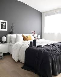 Contemporary Blue Bedroom - blue and gray bedroom walls single bed black modern nightstand