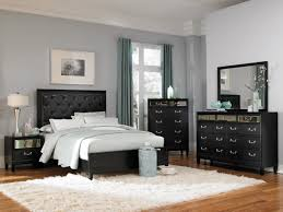 Devine Bedroom Set With Button Tufted Headboard In Black - Tufted headboard bedroom sets