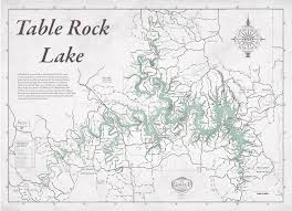 table rock lake map table rock lake map decorator gray with antique green water gallup map