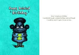 Belated Wedding Card Birthday Cards Belated Birthdays Bald Guy Greetings