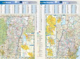 New Hampshire State Map by New Hampshire U0026 Vermont State Reference Map From Geonova